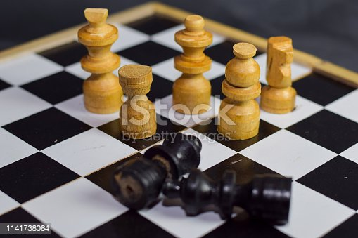 istock Chess board game for ideas and strategy. 1141738064