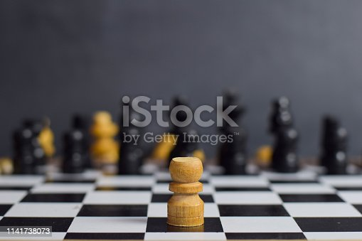 istock Chess board game for ideas and strategy. 1141738073