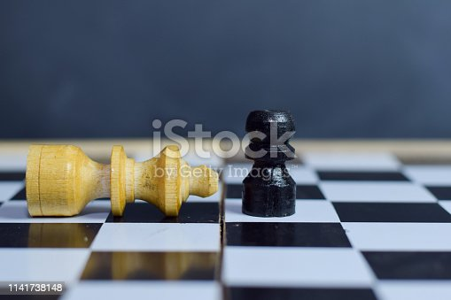 istock Chess board game for ideas and strategy. 1141738148