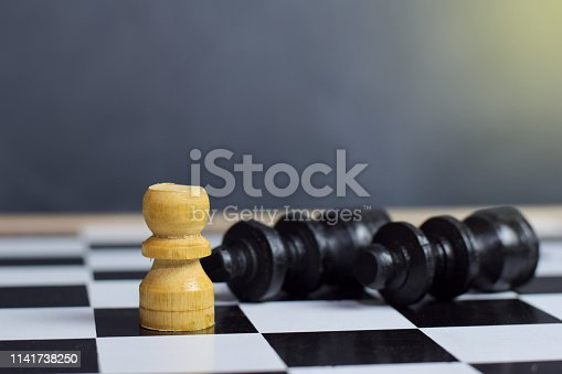 istock Chess board game for ideas and strategy. 1141738250