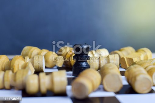 istock Chess board game for ideas and strategy. 1141738954