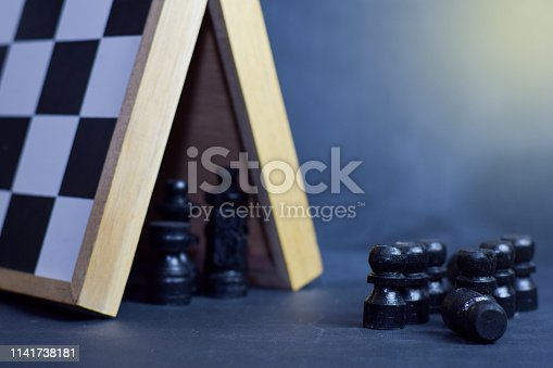 istock Chess board game. Strategic planning and intelligence concept 1141738181