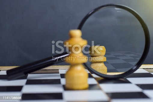istock Chess board game. Strategic planning and intelligence concept 1141738558