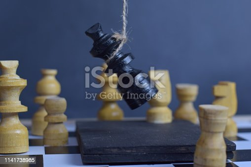 istock Chess board game. Strategic planning and intelligence concept 1141738985
