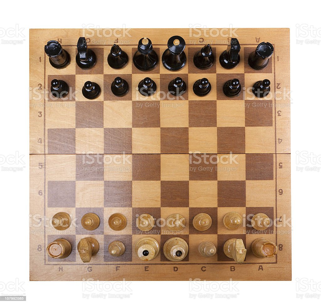 chess board isolated royalty-free stock photo