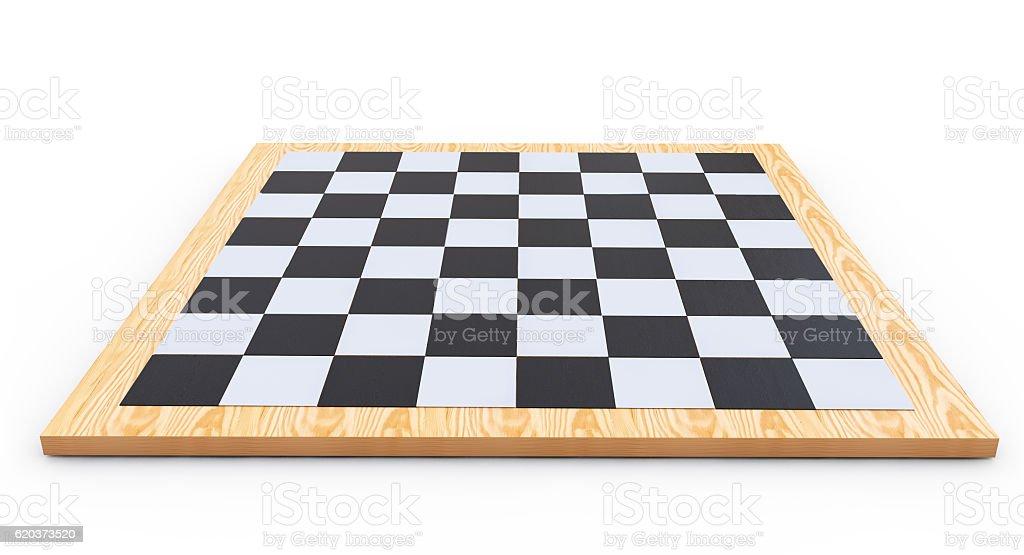 chess board on a white background 3d render zbiór zdjęć royalty-free