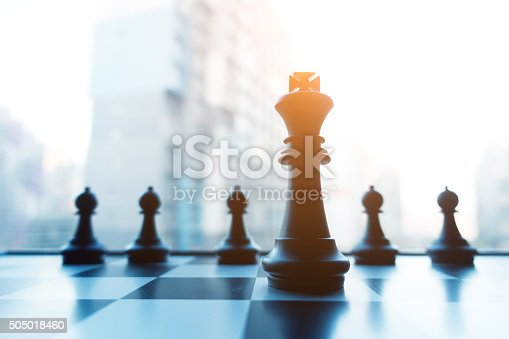 Chess board business concept.