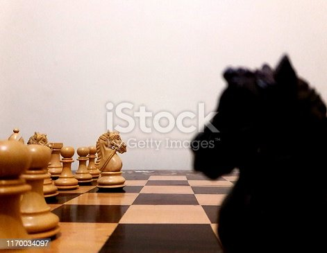 High quality wooden chess board with Chess pieces