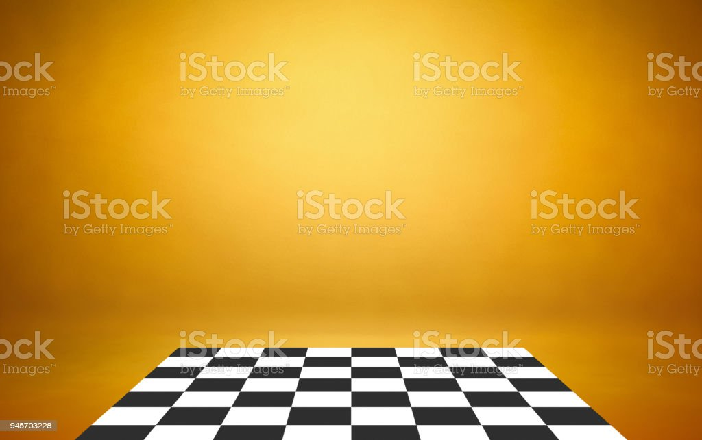 chess board with yellow background template stock photo more