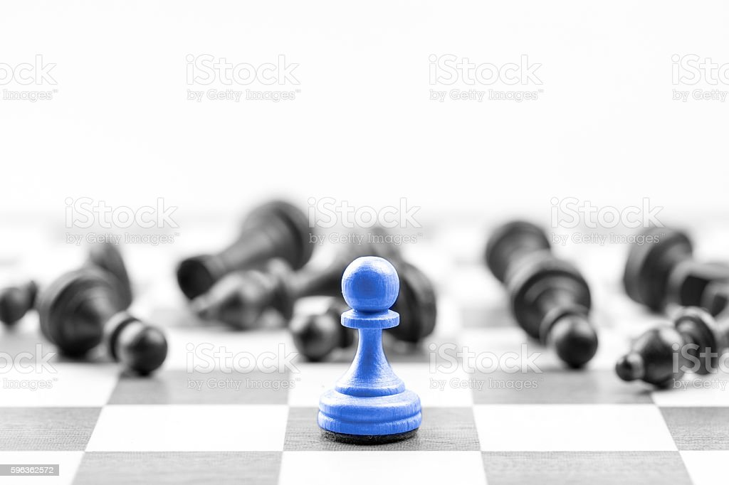 Chess business concept, leader & success royalty-free stock photo