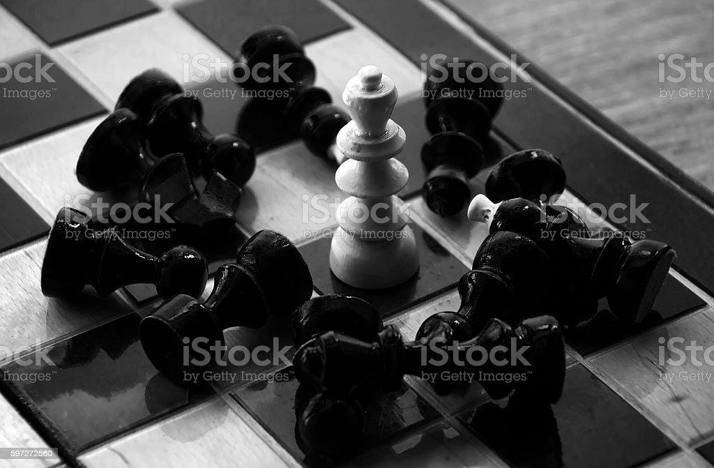 Schach-business-Konzept, führt & Erfolg Lizenzfreies stock-foto