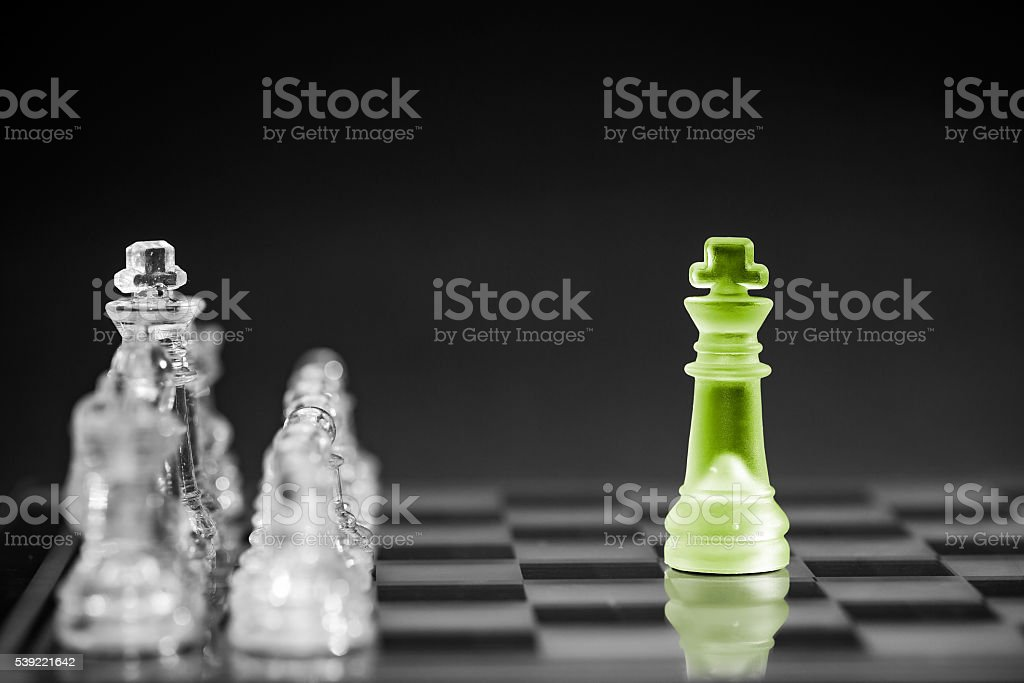 Chess business concept. stock photo