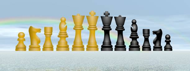 Chess business idea for competition - 3d rendering stock photo