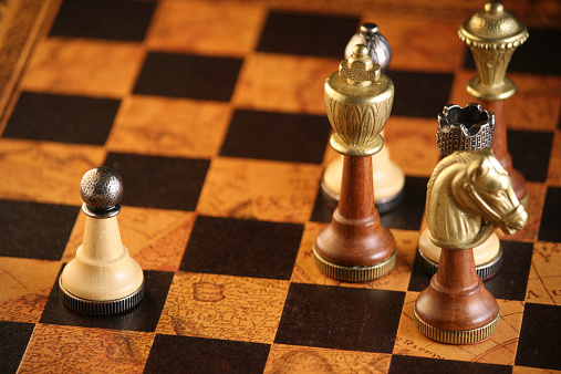 Some more powerful chess pieces snobishly avoid the simple pawn.