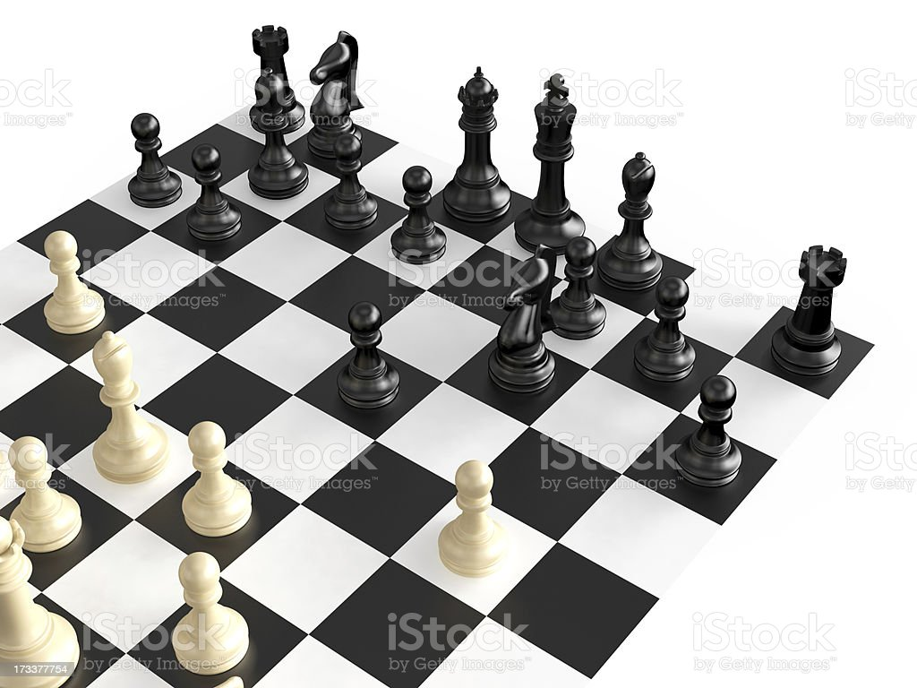 Chess Figures and Board royalty-free stock photo