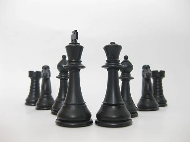 chess figures . - jagdthema schlafzimmer stock-fotos und bilder