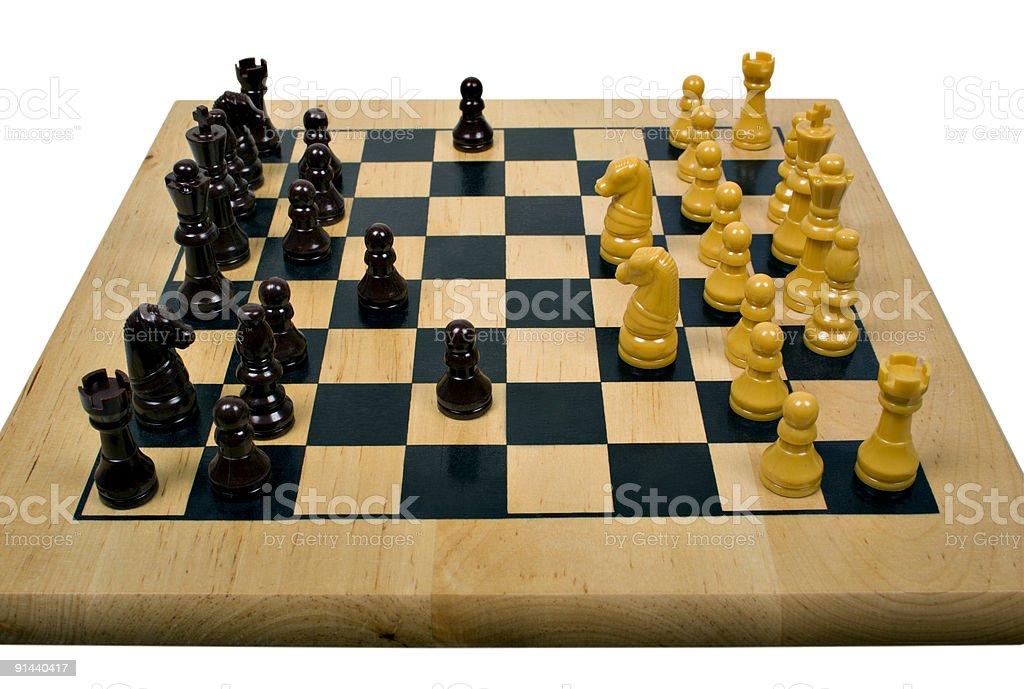 Chess Gambit stock photo