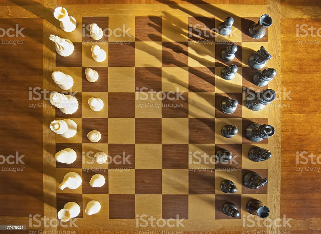Chess Game Aerial Shot stock photo