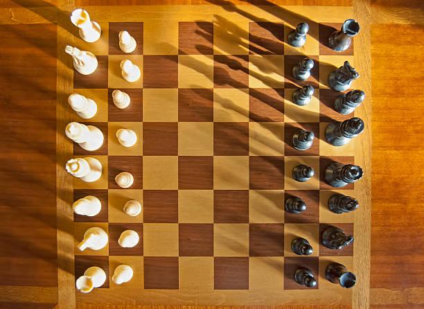 Chess Game Aerial Shot stock photo