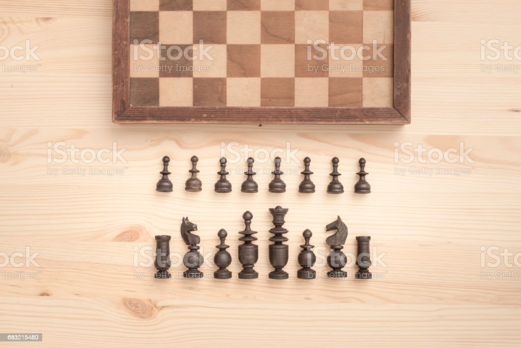 Chess game and pieces royalty-free 스톡 사진