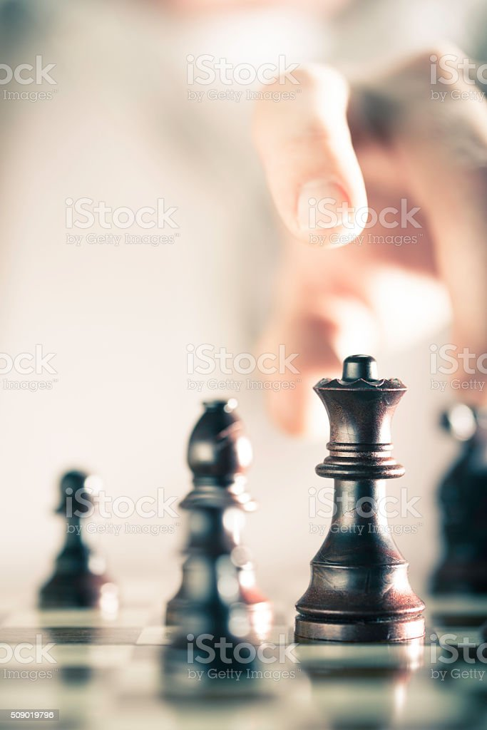 Chess Game Background stock photo
