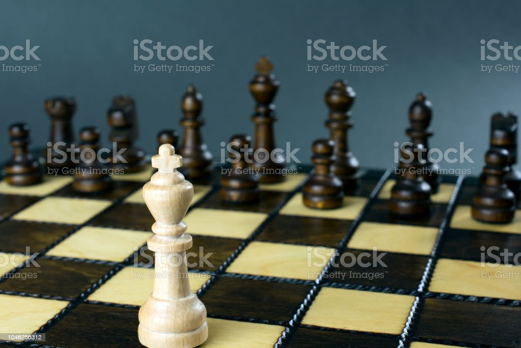 Chess Game Chess Board With Placed Figures Conflict