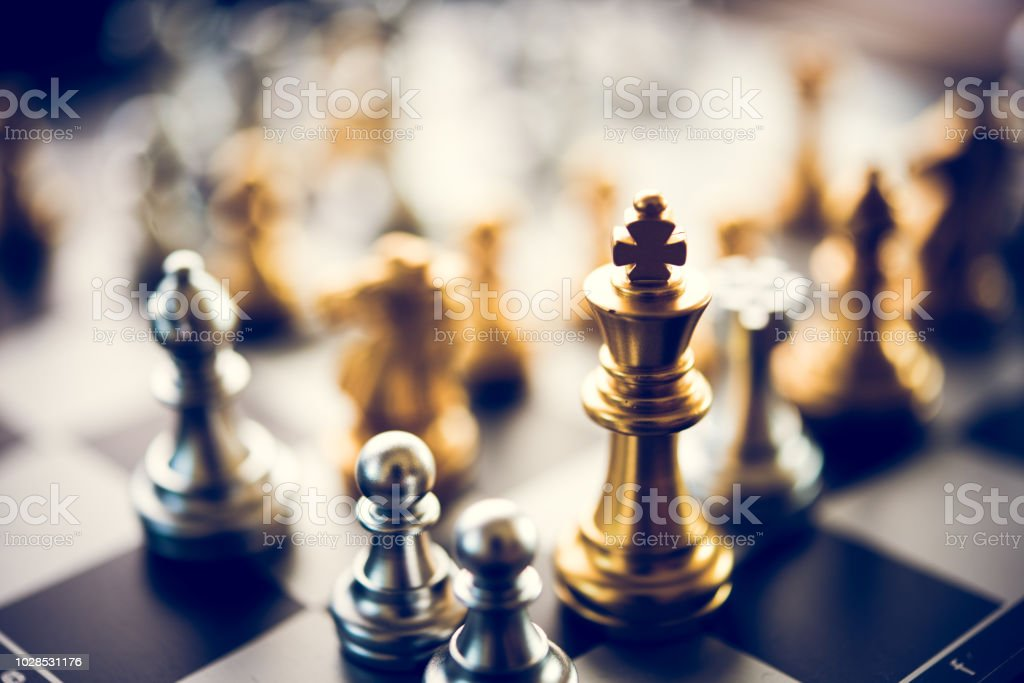 Chess game competition business concept , Business competition...