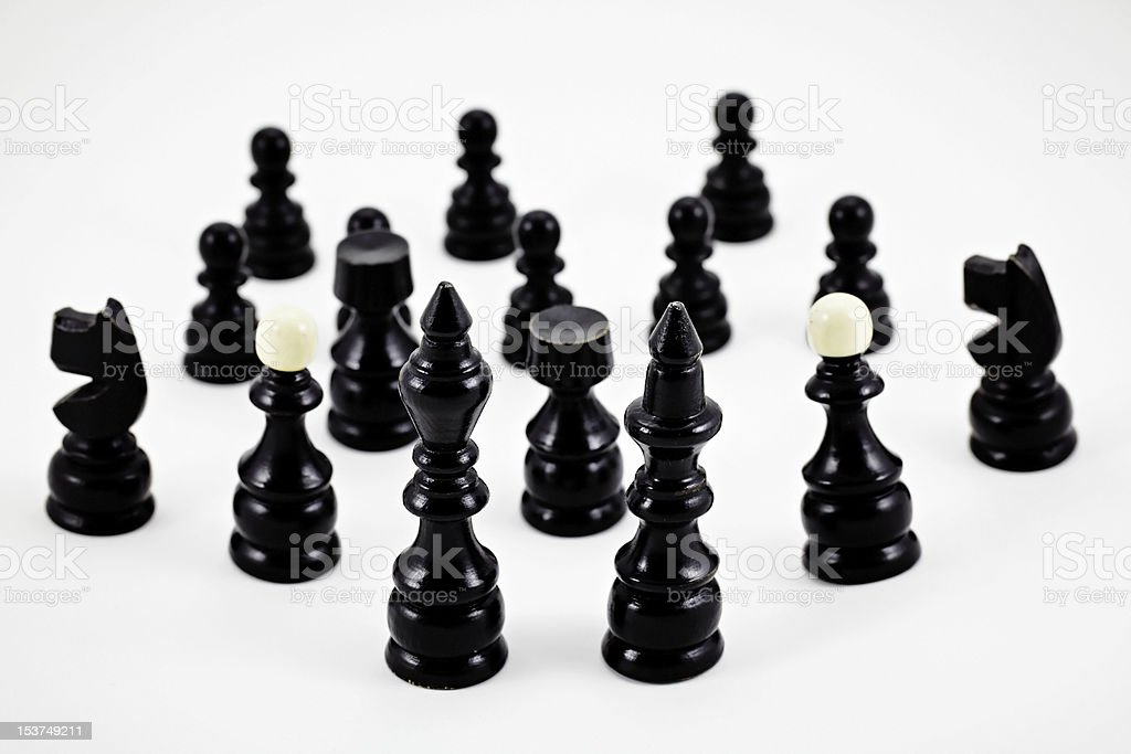 Chess game figurines royalty-free stock photo