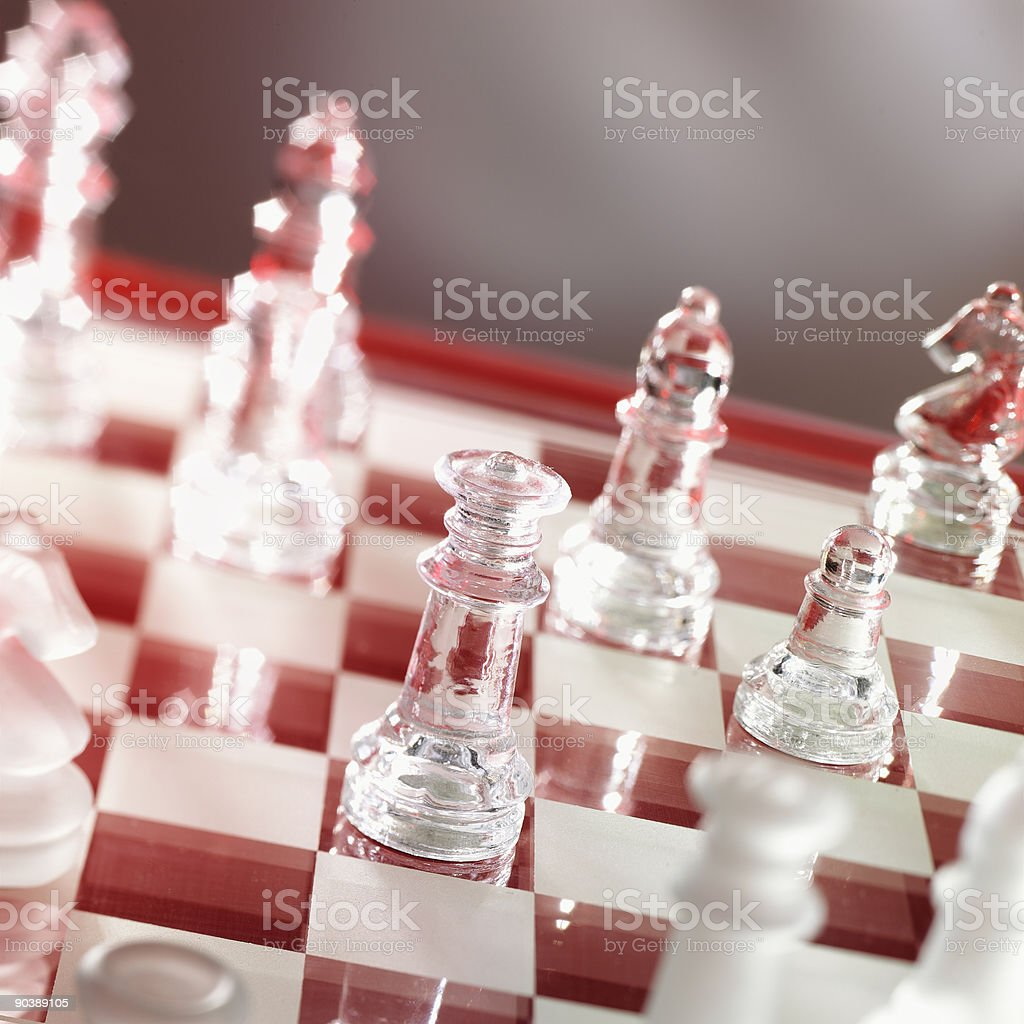 chess game in warm red royalty-free stock photo