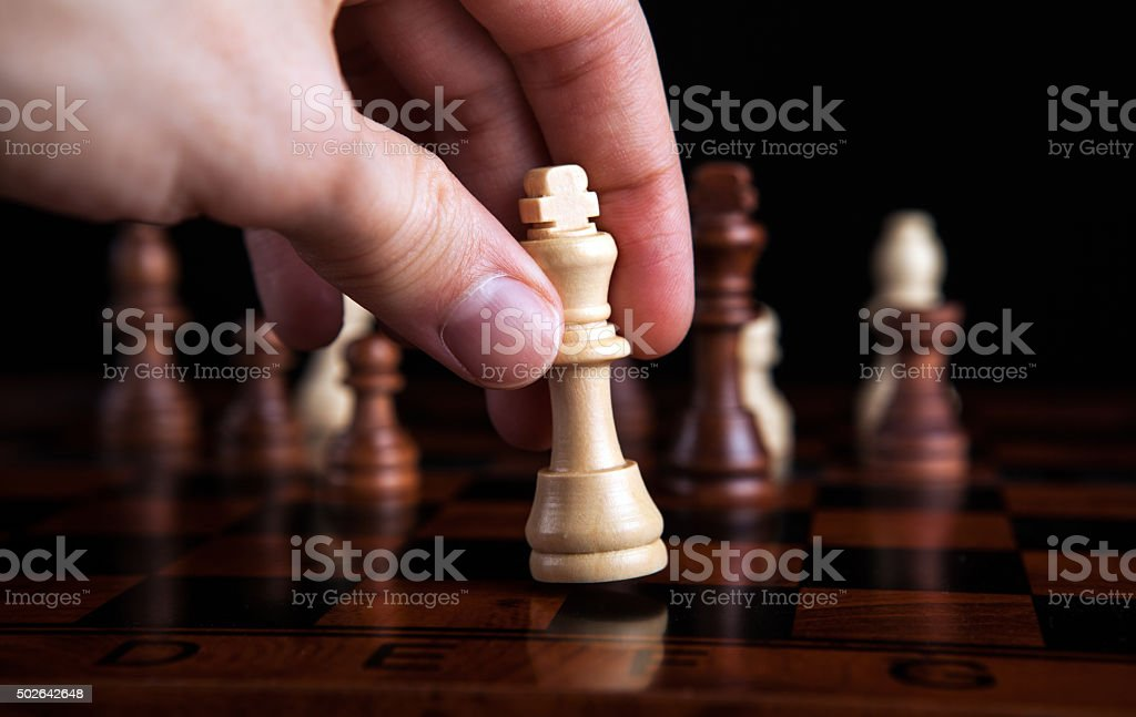 chess game king move stock photo