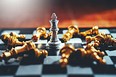 istock Chess game of successful business leader concept 1145151195