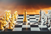 istock Chess game of successful business leader concept 1145151210