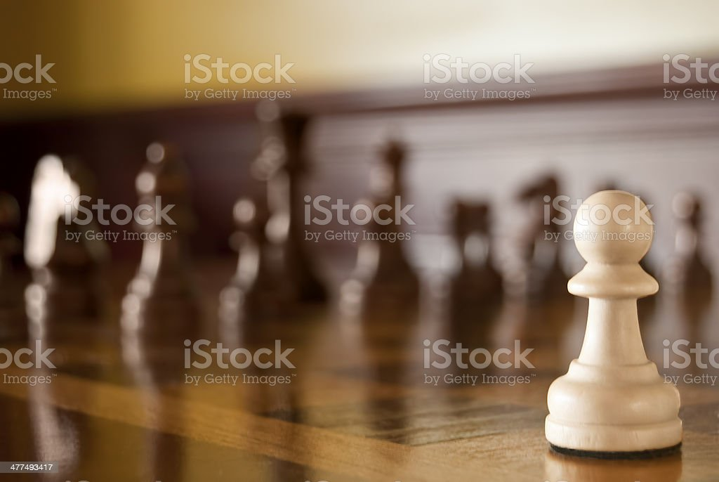 Chess Game Pawn Your Move stock photo