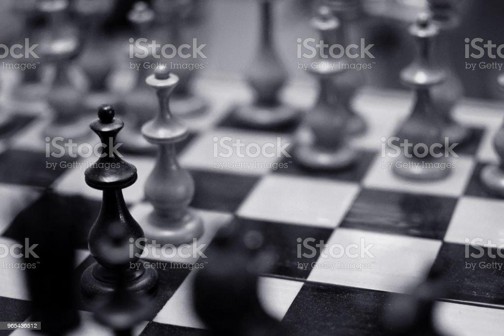 체스 게임에서  - 로열티 프리 0명 스톡 사진