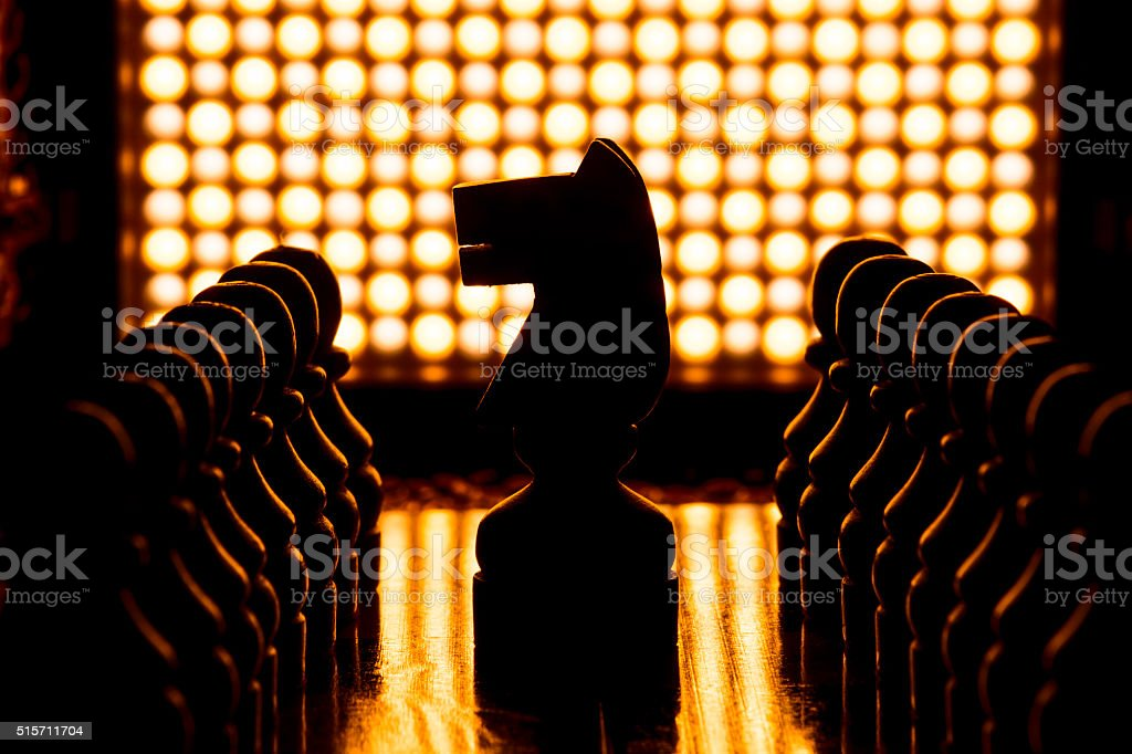 Chess game pieces. stock photo