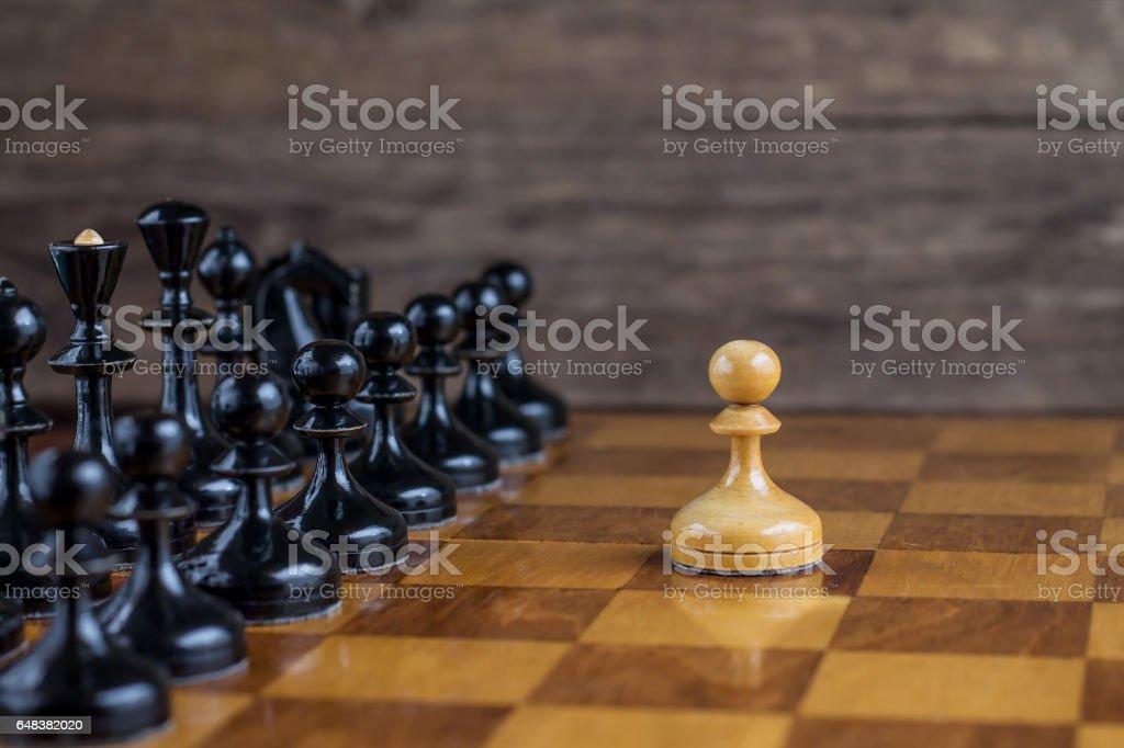 Chess game set stock photo