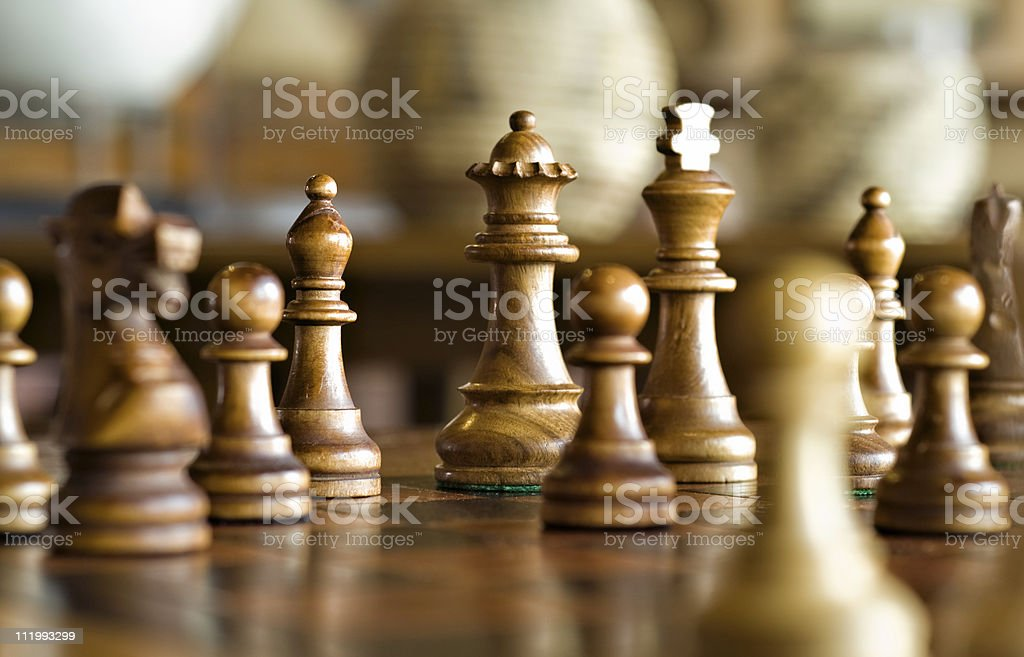 Chess Game, Strategy and Decision Making stock photo