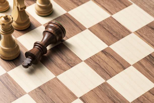 Chess game: the king is checkmated stock photo