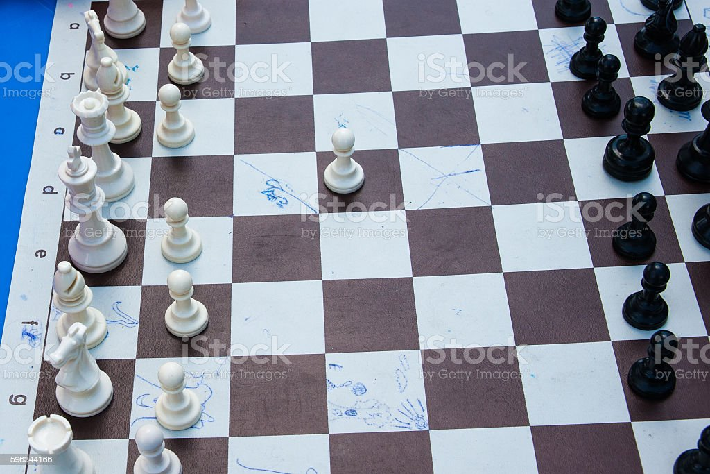 Chess game - white starts royalty-free stock photo