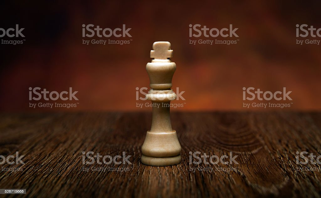 chess game with king on the table stock photo