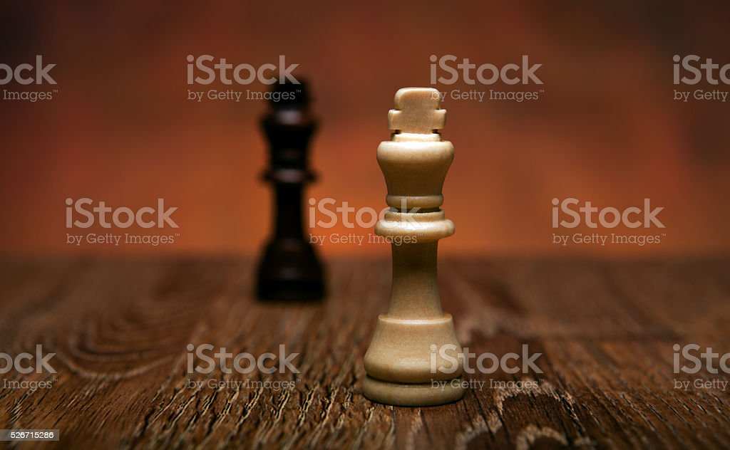 chess game with pieces on the table stock photo