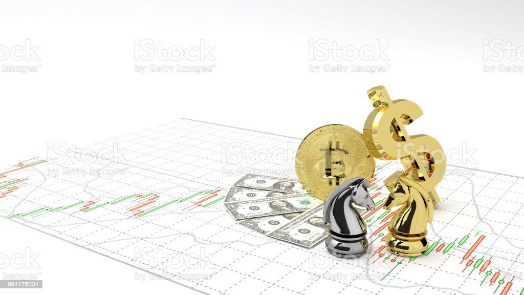 Chess Horse Buy Or Sell Money And Gold Bitcoin Make Profit