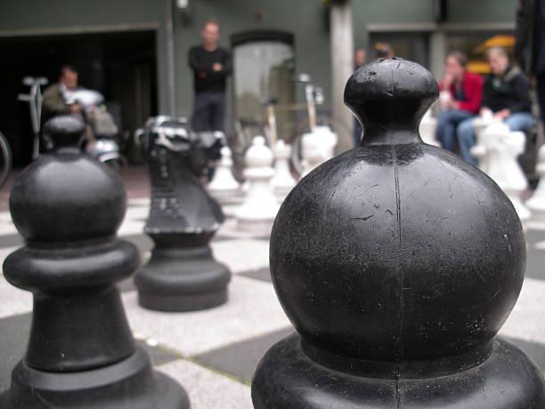 Chess in Amsterdam Max Euweplein stock photo