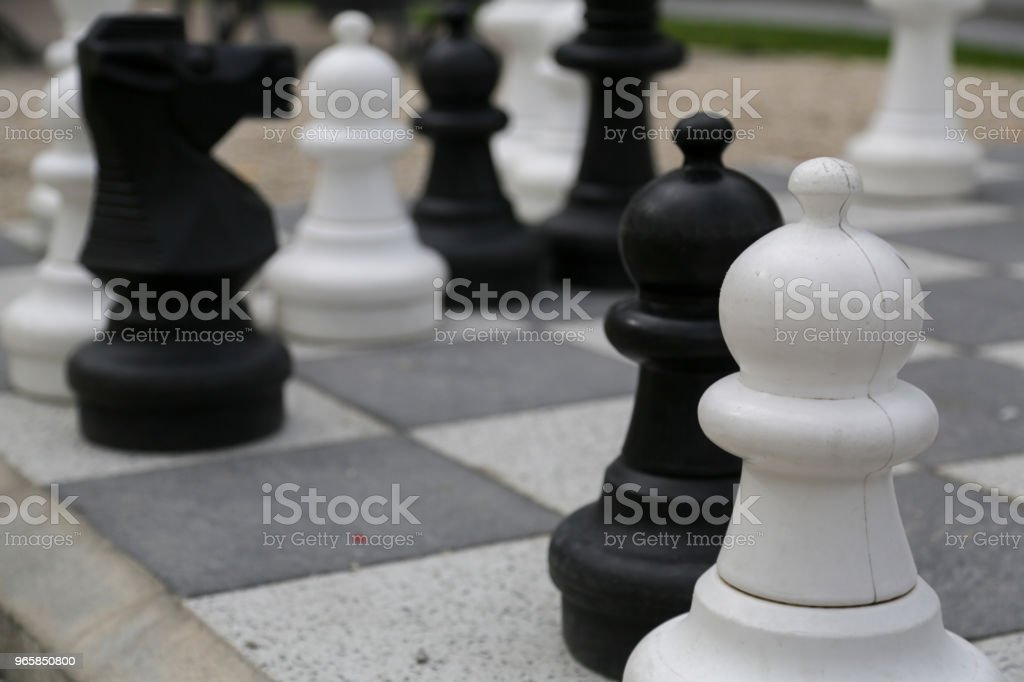 Chess in open air - Royalty-free Business Stock Photo