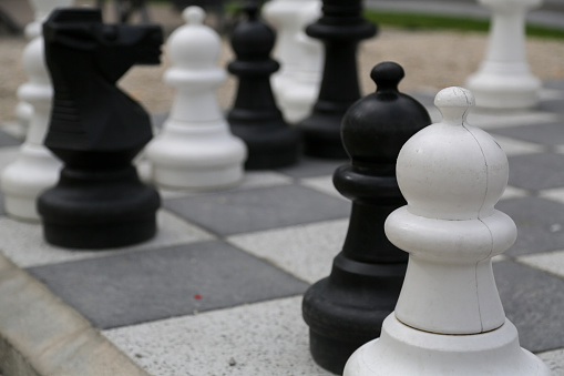Chess In Open Air Stock Photo - Download Image Now