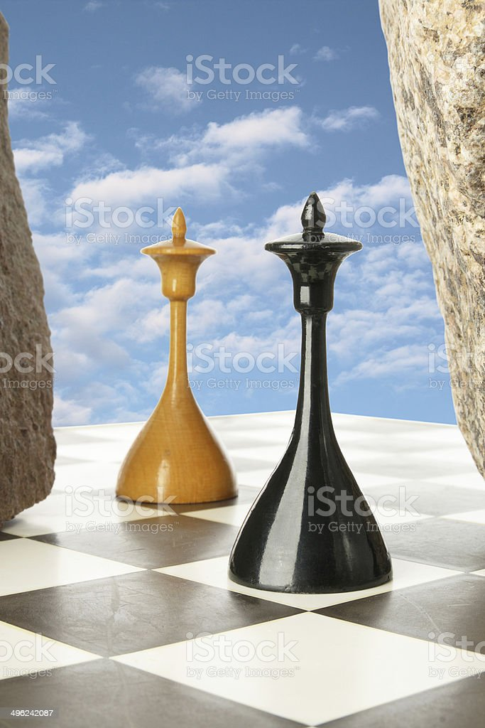 Chess island stock photo