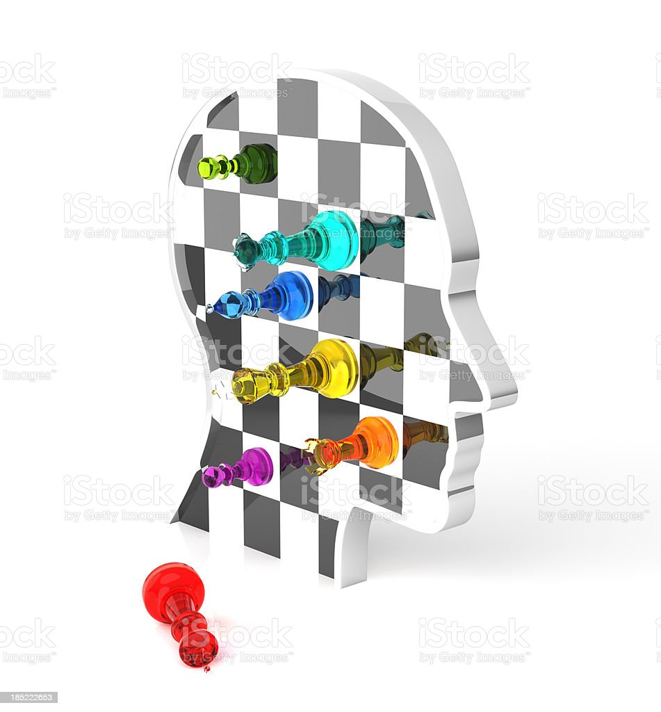 Chess: King Down royalty-free stock photo