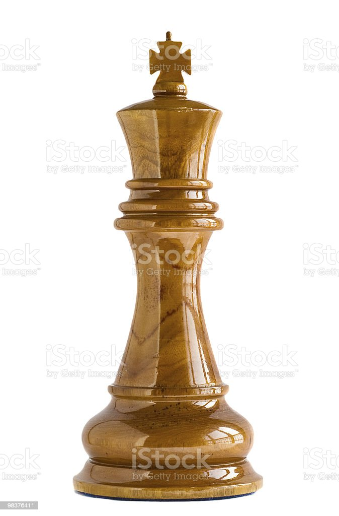 Chess King isolated on white royalty-free stock photo