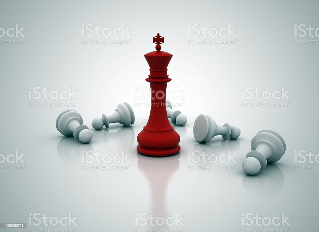 Chess king last one standing royalty-free stock photo