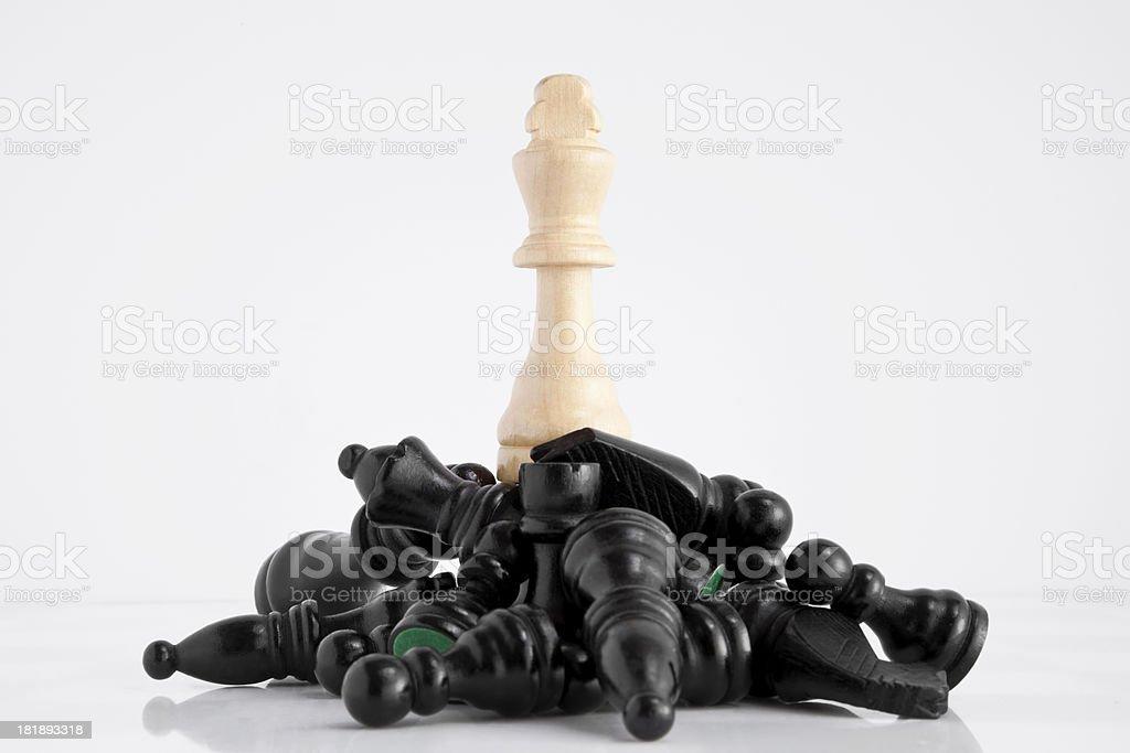 Chess: King (White) royalty-free stock photo